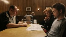 No more heroes: James Gandolfini, as Tony Soprano, with Edie Falco and Robert Iler in The Sopranos. Photograph: HBO