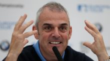 Ryder Cup captain Paul McGinley explains at a press conference at Wentworth  why he will have three wild card picks at Gleneagles next year. Photograph: Getty Images