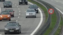 Cars driving along a highway in Berlin, Germany. The German Social Democrats (SPD) are proposing a nationwide limit of 120 km/h on all highways. Germany, in contrast to the rest of Europe, still has no speed limit on many portions of its large highways. Photograph: Sean Gallup/Getty Images