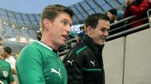 Ronan O'Gara and Jonny Sexton will join forces in Paris  with Racing Metro. Photograph: Lorraine O'Sullivan/Inpho