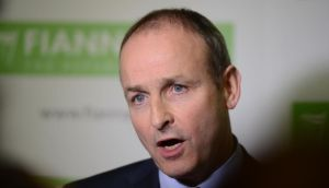"Fianna Fáil leader Micheál Martin:  Alan Shatter had ""crossed the line"". Photograph: Alan Betson"