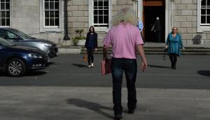 "Deputy Mick Wallace at Leinster House yesterday. ""Most came to the realisation that the the political row surrounding Shatter was petering out."" Photograph: Cyril Byrne"