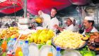 One of the many tourist attactions in Marrakesh, the open food market.  Credit: Vladimir Pcholkin