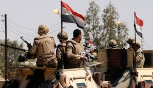 The Egyptian  army sent reinforcements to Sinai this week as part of its efforts to secure the release of the men - six policemen and one soldier - who were kidnapped last Thursday as they travelled between the North Sinai towns of El-Arish and Rafah. Photograph: Stringer/Reuters