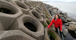 Sea change: Louise Firth experimented on the Mutton Island causeway. Photograph: Joe O'Shaughnessy
