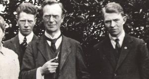 Eoin MacNeill with his sons Brian and Niall in 1917. Brian took the anti-Treaty side in the Civil War.