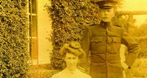 James Goulden's mother with his father, Sgt Henry Goulden of the RIC.