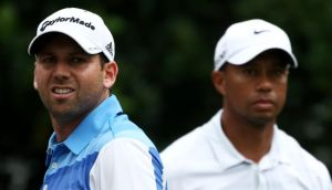 Sergio Garcia of Spain has apologised for remarks he made about Tiger Woods. Photograph:  Richard Heathcote/Gtty Images