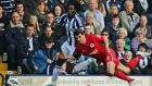 West Bromwich Albion's Romelu Lukaku (left) would be 'devastating' alongside Andy Carroll, says David Sullivan. Photograph: Clint Hughes/PA Wire.
