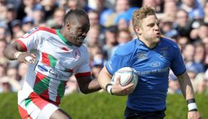 Biarritz's Taku Ngwenya chases down Ian Madigan during last month's Challenge Cup semi-final. The pair are due to meet again on June 8th. Photograph: Colm O'Neill/Inpho