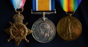 Michael O'Driscoll's medals from his military service.  Michael O'Driscoll's medals from his military service.