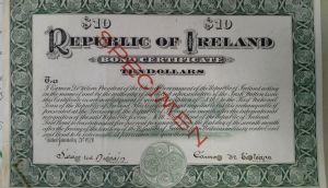 James O'Mara organised the Irish government's first bond-certificate drive in the US from 1919 to 1921. Over $5.1 million was raised in the campaign.