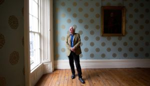 Dan Cruickshank  visiting the Georgian Quarter  on a visit to Limerick City this week. Photograph: Sean Curtin