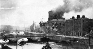 The shelling of the Four Courts in Dublin at the outset of the Civil War. Photograph:  Joe Rodgers