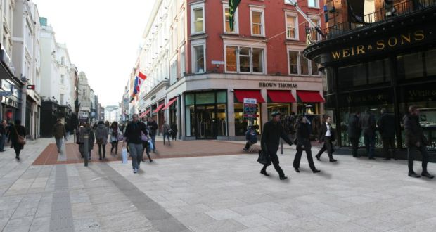 859aed782b A computer generated image of what the new granite paving on Grafton Street  will look like