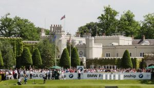 Wentworth West Course with clubhouse in background: idyllic venue for British public starved of top-class golf. Photograph: Getty Images