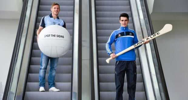 e95a9c58554 Dublin footballer Paul Flynn and hurler Danny Sutcliffe at the launch of  the jersey initiative and