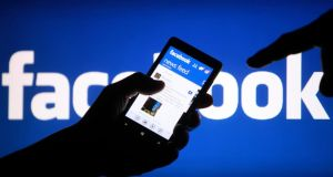 The Facebook smartphone application. Photograph: Dado Ruvic/Reuters.