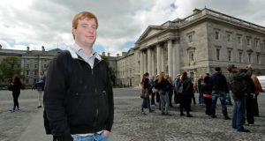 Where next?: Mark O'Meara, who is studying computer science at Trinity College Dublin. Photograph: Dave Meehan