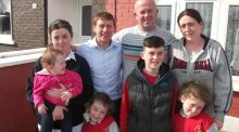 Mentor: Johnny Murtagh with Wes Doyle, Linda Farrell and their five children