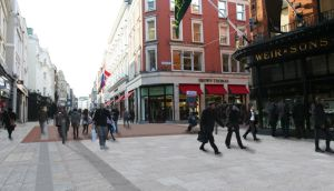 Going grey: new paving planned for Grafton Street, which is part of BID's remit