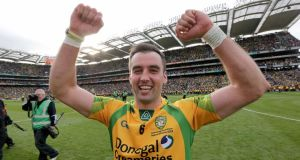 Donegal's Karl Lacey will be back in action in Ballybofey this weekend.  Photograph: Morgan Treacy/Inpho