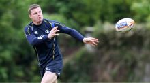 Leinster's Brian O'Driscoll prepares for the Pro12 final at the RDS.