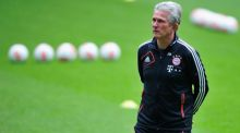 Jupp Heynckes gets  a feel of Wembley.