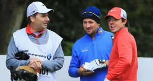 "Graeme McDowell and  Rory McIlroy at Wentworth yesterday. ""We are good friends and the last thing I want, whatever happens between Rory McIlroy and Horizon Sports, is that him and I lose our friendship. That's not going to happen,"" said McDowell. Photograph: Inpho"