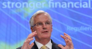 "European Commissioner for Internal Market and Services Michel Barnier: ""We need more responsible companies."" Photograph: John Thys/AFP/Getty Images"