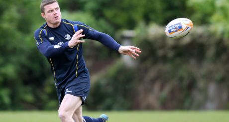 Brian O'Driscoll returns to the Leinster side for Saturday's RaboDirect Final against Ulster at the RDS. Photograph:  Kieran Murray/Inpho