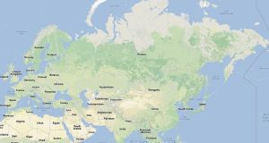 A magnitude 8.2 earthquake originated in the Sea of Okhotsk today. Image: Google Maps