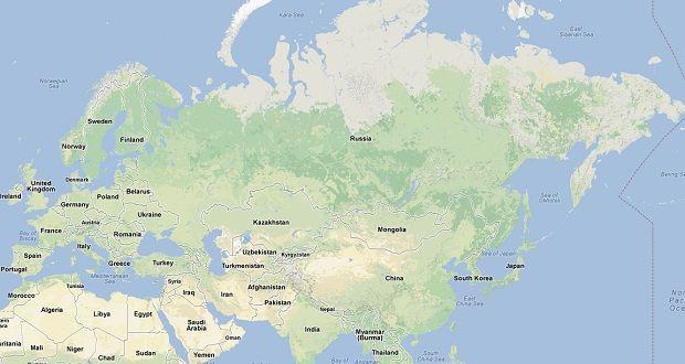 Google Map Of Russia.Powerful Earthquake Hits Russia