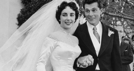 Elizabeth Taylor and Nicky Hilton at their wedding in 1950. Photographs: Getty Images and Christie's images ltd, 2013