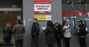 EU unemployment rate: released on Friday. photograph: andres kudacki/ap