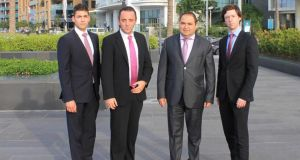 Mena City Lawyers (left to right): Marcus Tadros, Mark Thompson, Fady Jamaleddine, and Niall Donnelly