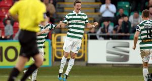 Ronan Finn scored the winning goal for  Shamrock Rovers against Shelbourne lasy night. Photograph: Donall Farmer/Inpho