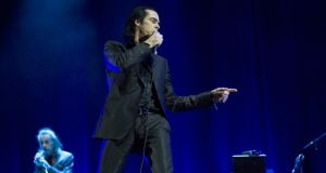 Nick Cave and The Bad Seeds putting the fear of god into Primavera Sound. Photograph: Jordi Vidal/Redferns/Getty Images