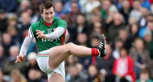 Mayo's Cillian O'Connor has dislocated his shoulder. Photograph: Inpho