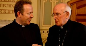 "Archbishop Eamon Martin with Cardinal Seán Brady. ""We can address ethical disagreement by consulting the faith of citizens, as Archbishop Martin recommends. Alternatively, we could rely on the moral experience of women as the primary source on which to base an ethics of family planning or abortion.""  Photograph: David Sleator"