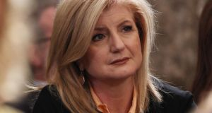 "Publisher Arianna Huffington told students at Smith College in Northampton, Massachusetts:  ""What I urge you to do is not just take your place at the top of the world, but to change the world"". Photograph: Oli Scarff/Getty Images"