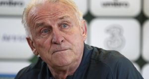 Giovanni Trapattoni of the Republic of Ireland at a press conference at an Ireland training session at Watford FC Training Ground on Sunday. Photograph: Ben Hoskins/Getty Images