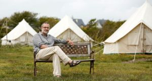 Kevin Heapes of Pure Camping at Loop Head, Co. Clare. Photograph: Don Moloney/Press 22