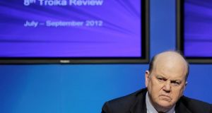 Minister for Finance Michael Noonan will bring a proposal to Cabinet shortly to develop a stringent new economic plan to replace the troika bailout programme. Photograph: Julien Behal/PA Wire.