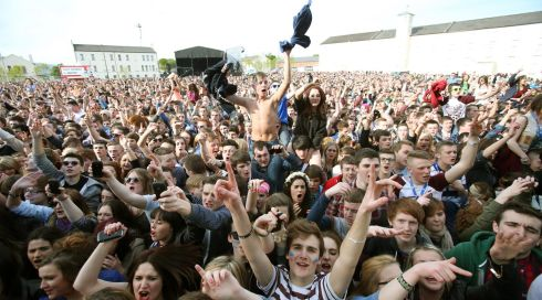 Unbridled joy, optimism, fun, frolics, fantasia, and everything else you could wish for the fabulous young folks of Derry, seen here whooping it up at the Radio 1 Big Weekend at Ebrington Square, which hosted a veritable horde of musical acts. Photograph: Niall Carson/PA Wire