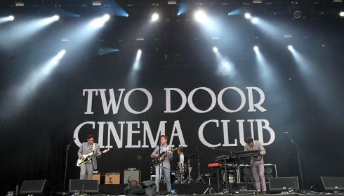 And where would you be without the bit of local talent. It's only Two Door Cinema Club up there now.  Photograph: Niall Carson/PA Wire