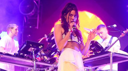 Eliza Doolittle and Disclosure give their performance. Photograph: Niall Carson/PA Wire