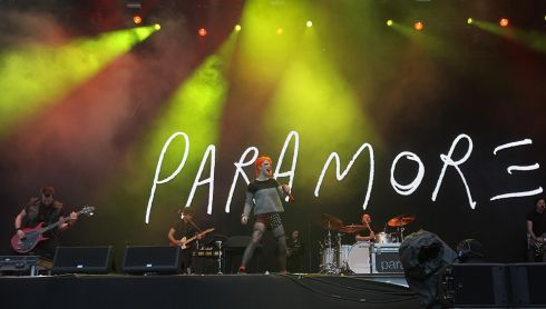 Paramore belt one out. Photograph: Niall Carson/PA Wire