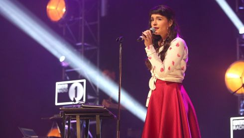 A wholesome looking Jessie Ware on stage. Photograph: Niall Carson/PA Wire