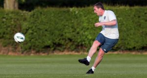 Richard Dunne during Republic of Ireland training at  Colney in London on Sunday. Photograph: Donall Farmer/Inpho
